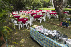Outdoor buffet banquet Stock Photo