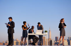 Outdoor Business Meeting in New York City Stock Photos