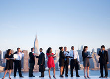 Outdoor Business Meeting in New York City Royalty Free Stock Photo