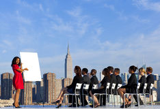 Outdoor Business Meeting in New York City Royalty Free Stock Photography