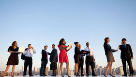 Outdoor Business Meeting in New York City Stock Photo