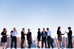 Outdoor Business Meeting in New York City Royalty Free Stock Image