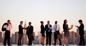 Outdoor Business Meeting New York City Concept Royalty Free Stock Photo