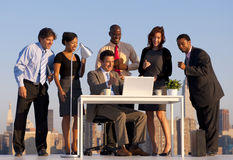 Outdoor Business Meeting New York City Concept Stock Image