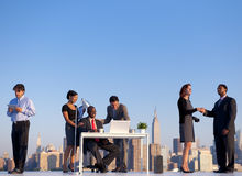 Outdoor Business Meeting New York City Concept Stock Photography