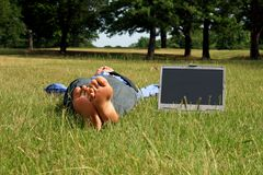 Outdoor Businessman stock photo