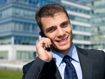 Outdoor Businessman Stock Photo