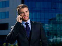 Outdoor Businessman Royalty Free Stock Photography