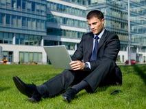 Outdoor Businessman Royalty Free Stock Photos