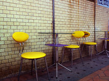 Outdoor Café. With tables and chairs royalty free stock image