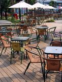 Outdoor Cafe royalty free stock photos