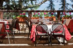 Outdoor cafe Stock Photography