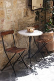 Outdoor cafe. Old outdoor cafe in a traditional tuscany street - Italy Stock Photo