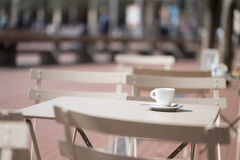 An outdoor cafe Royalty Free Stock Images