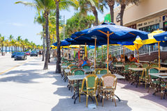 Outdoor cafe at Fort Lauderdale in Florida Stock Image