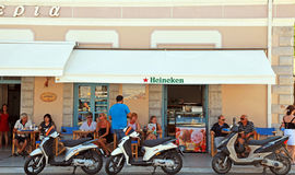 Outdoor cafe(Greece) Royalty Free Stock Image