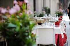 Outdoor cafe in Italy Stock Photography