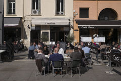 Outdoor Cafe Italy Royalty Free Stock Photography