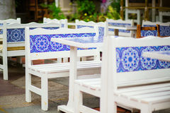 Outdoor cafe in Kampong Glam, Singapore. Outdoor cafe in Kampong Glam, Arab district in Singapore Stock Photos