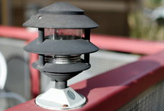 Outdoor cafe lamp Stock Image