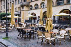 Outdoor Cafe in Leipzig Germany Royalty Free Stock Photo
