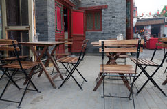 Outdoor cafe leisure Royalty Free Stock Images