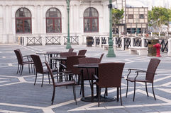Outdoor cafe macao street Royalty Free Stock Image