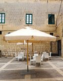 Outdoor cafe in the old city of Mdina, Malta Stock Images