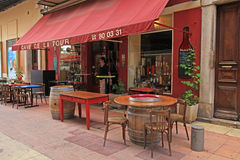 Outdoor cafe in Old Town of Nice, France Stock Images