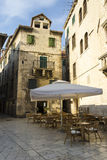 Outdoor cafe in old town, Split, Croatia Stock Photo