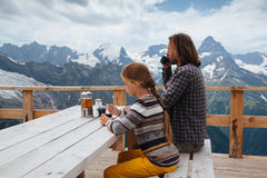 Free Outdoor Cafe On Mountain Royalty Free Stock Photo - 75614215