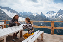 Free Outdoor Cafe On Mountain Stock Image - 75614221