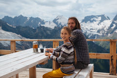 Free Outdoor Cafe On Mountain Stock Photography - 75614222