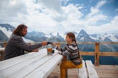 Free Outdoor Cafe On Mountain Royalty Free Stock Photo - 75614245