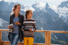 Free Outdoor Cafe On Mountain Royalty Free Stock Photography - 75614317
