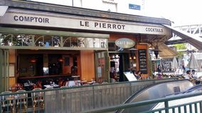 Outdoor Cafe in Paris stock images