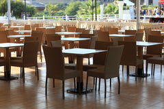 Outdoor cafe at resort Royalty Free Stock Photography