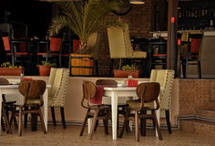 Outdoor cafe restaurant Royalty Free Stock Images