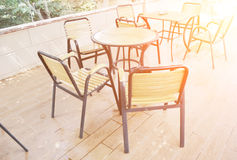Outdoor cafe Stock Images