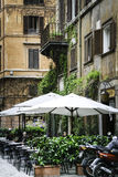 Outdoor cafe in Rome Royalty Free Stock Photo