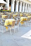 outdoor cafe on San Marco square in Venice Stock Photos