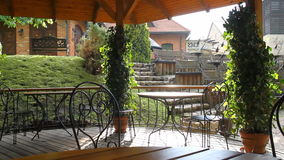 Outdoor cafe stock footage
