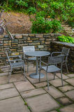 Outdoor Cafe Single Table Royalty Free Stock Image