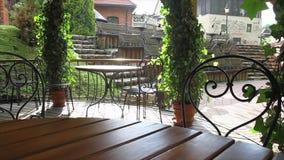 Outdoor cafe, slider stock video