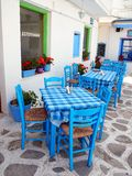 Outdoor Cafe, Tinos, Greece Stock Images