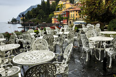 Outdoor Cafe Varenna Royalty Free Stock Image