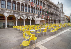 Outdoor cafe in Venice. Royalty Free Stock Photography