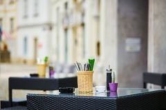 Outdoor cafe in Vienna, Austria Royalty Free Stock Images