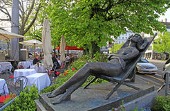Outdoor cafe, Zurich, Switzerland Stock Images