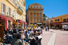 Outdoor cafes, Nice Royalty Free Stock Images
